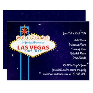 Las Vegas Sign Birthday Party Card