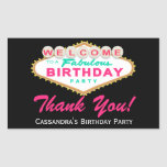 Las Vegas Sign Birthday Party Favour Stickers