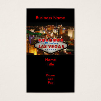 Las Vegas Sign Business Cards