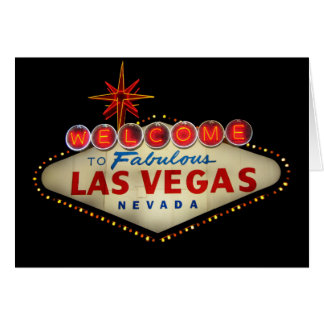 Las Vegas Sign Card