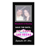 Las Vegas sign destination wedding Save the Date Picture Card