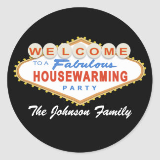 Las Vegas Sign Housewarming Party Stickers