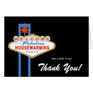 Las Vegas Sign Housewarming Thank You Note Card