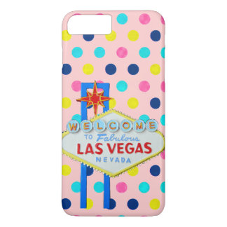 Las Vegas Sign on Pink Dots iPhone 7 Plus Case