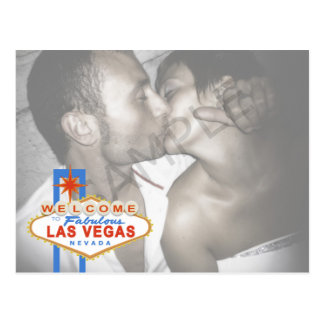 Las Vegas Sign Save the Date Postcard