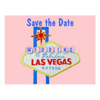 Las Vegas Sign Save the Date Postcards