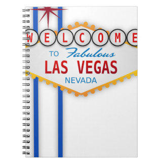 Las Vegas Sign Usa America Casino Gambling Games Notebook