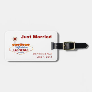 Las Vegas Sign Wedding Luggage Tags