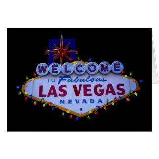 Las Vegas Sign with Christmas Lights Card