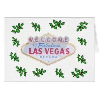 Las Vegas Sign with Mistletoes Christmas Card