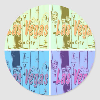 Las Vegas Sin City Classic Round Sticker