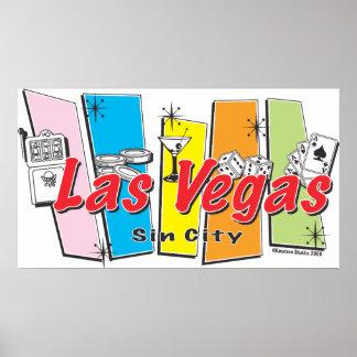 Las Vegas Sin City Posters