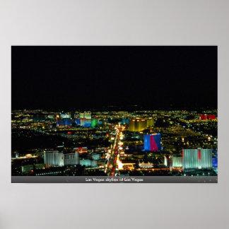 Las Vegas skyline at Las Vegas Poster