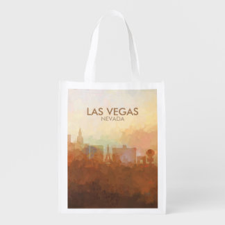 Las Vegas Skyline IN CLOUDS Reusable Grocery Bag