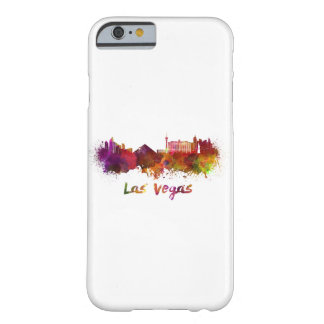 Las Vegas skyline in watercolor Barely There iPhone 6 Case