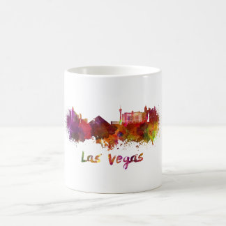 Las Vegas skyline in watercolor Coffee Mug