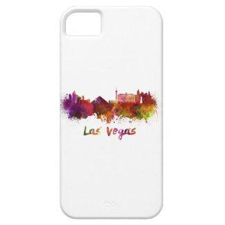 Las Vegas skyline in watercolor iPhone 5 Case