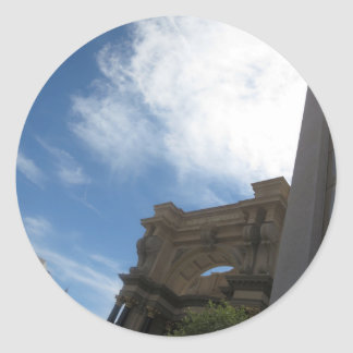 LAS VEGAS Skyline Photography - Casinos,Resorts Round Sticker