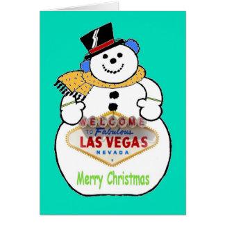 "Las Vegas Snowman ""Merry Christmas"" Card"