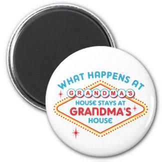 Las Vegas Stays At Grandma's Fridge Magnet
