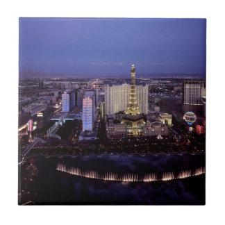 Las Vegas Strip Aerial View Casino Gambling City Ceramic Tile