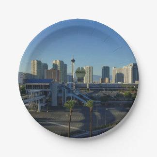 Las Vegas Strip Ahead 7 Inch Paper Plate