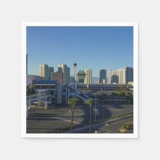 Las Vegas Strip Ahead Disposable Serviette