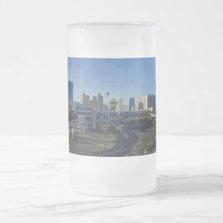 Las Vegas Strip Ahead Frosted Glass Beer Mug