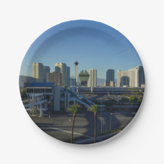Las Vegas Strip Ahead Paper Plate