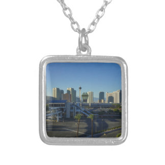 Las Vegas Strip Ahead Silver Plated Necklace