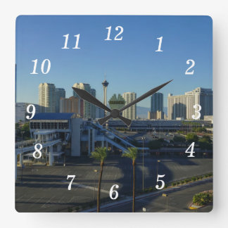 Las Vegas Strip Ahead Square Wall Clock