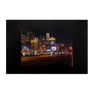 Las Vegas Strip At Night Acrylic Wall Art
