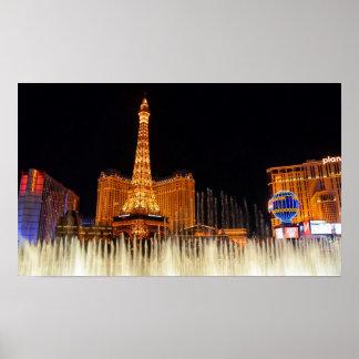 Las Vegas Strip At Night Poster