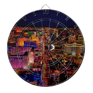Las Vegas Strip Night Vacation Dartboard