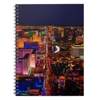 Las Vegas Strip Night Vacation Notebooks