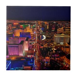 Las Vegas Strip Night Vacation Tile