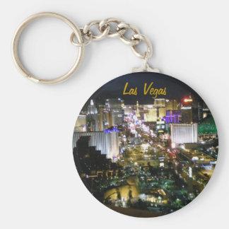 Las Vegas Strip Photo Basic Round Button Key Ring