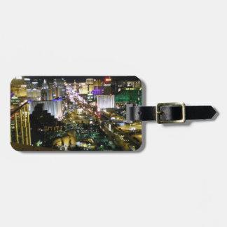 Las Vegas Strip View Night & Day Luggage Tag