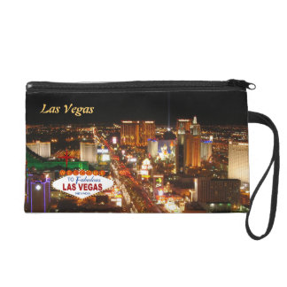Las Vegas Strip Wristlet Bag
