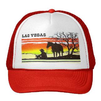 Las Vegas Sunset Cowboy Trucker Hat