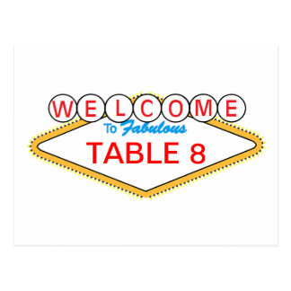 Las Vegas Table Number Postcard