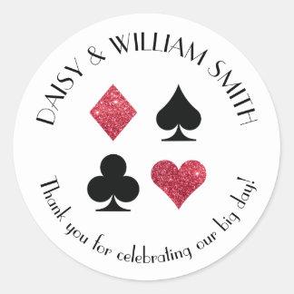 Las Vegas Theme Custom Text Sticker in Red Black
