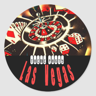 Las Vegas Theme party Classic Round Sticker