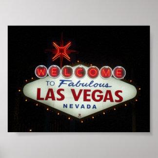 Las Vegas travel poster