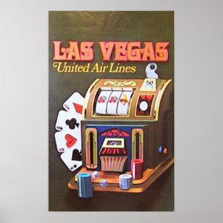Las Vegas (United Air Lines) Poster