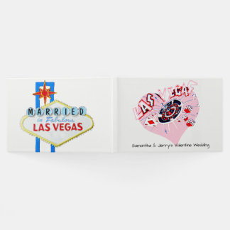 Las Vegas Valentine Wedding Guest Book