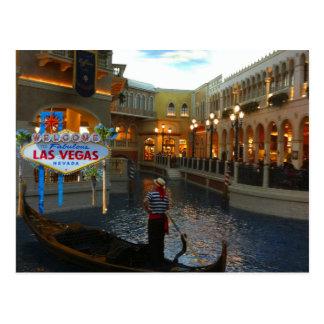 Las Vegas Venetian Gondola Postcard