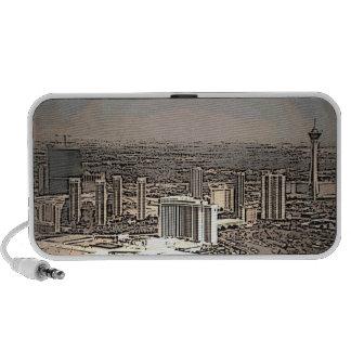 Las Vegas vintage scenic city music speaker
