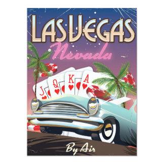 Las Vegas vintage style wedding invite