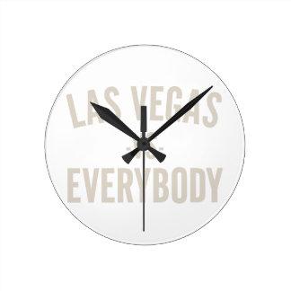 Las Vegas Vs Everybody Round Clock